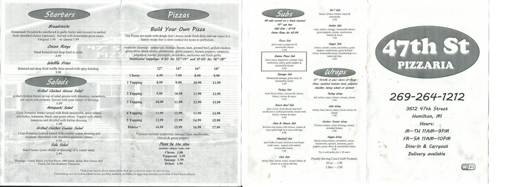 47th Street Pizzaria | SW Michigan Dining
